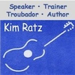 kimratz adds music to all his programs to inspire people and help improve skills